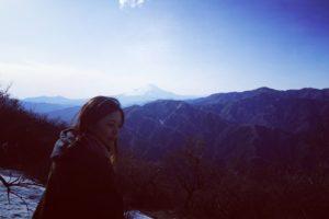 大山頂上・富士山圧巻!